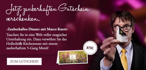 """Gutschein """"Zauberhaftes Dinner"""" mit Marco Knott"""